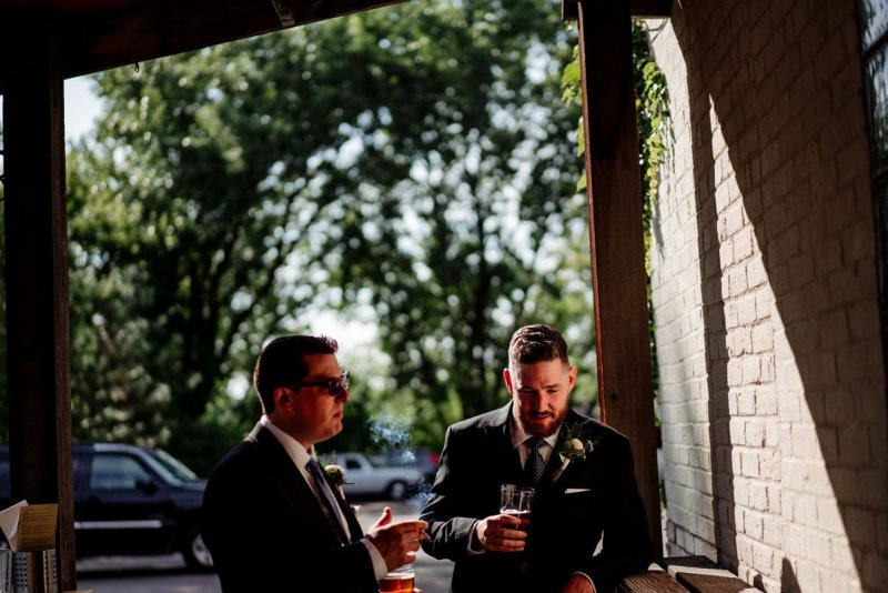 long cocktail hour at dive bar wedding minneapolis northeast