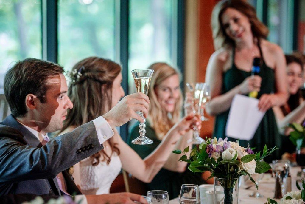 reception toasting silverwood park wedding mn