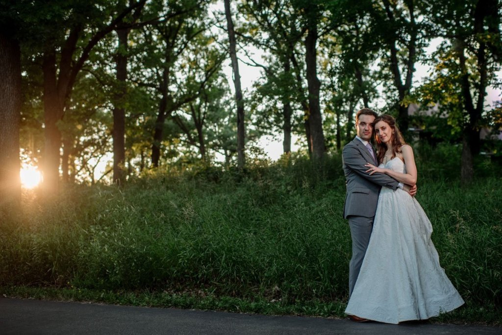 Late night portrait of couple in tall grasses silverwood park wedding mn