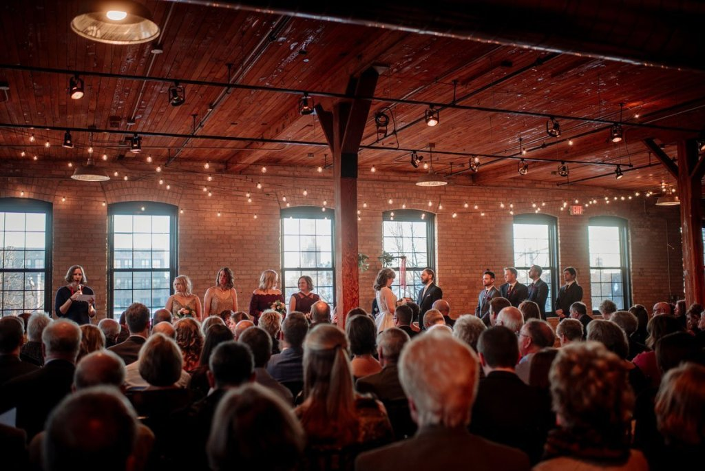 photo of whole room at ceremony at solar arts