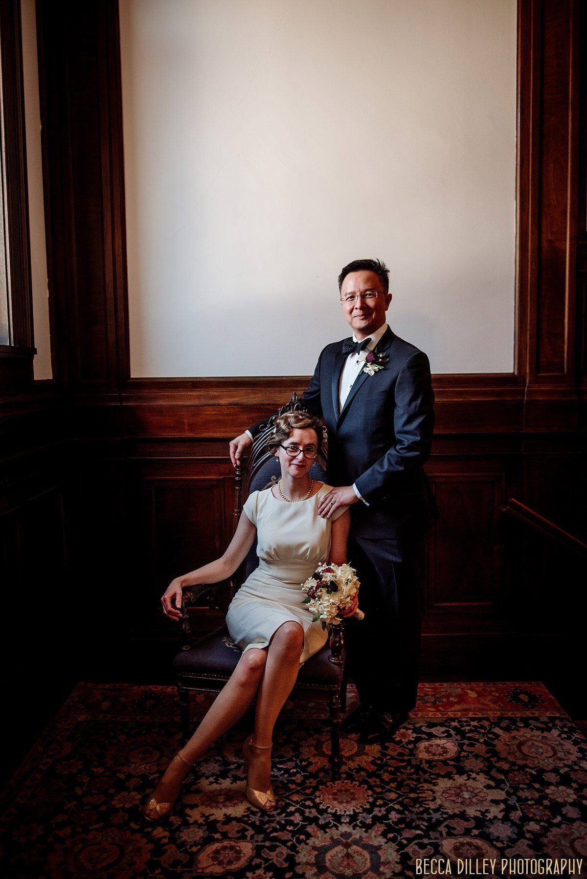 couple celebrate elopement ceremony in minneapolis mansion