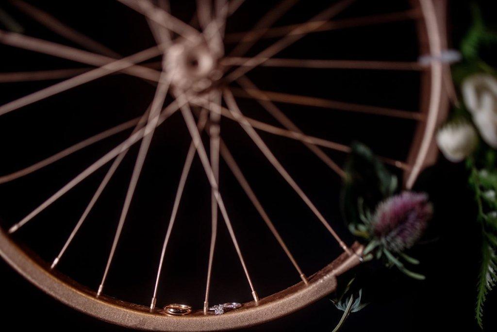 wedding rings on bike