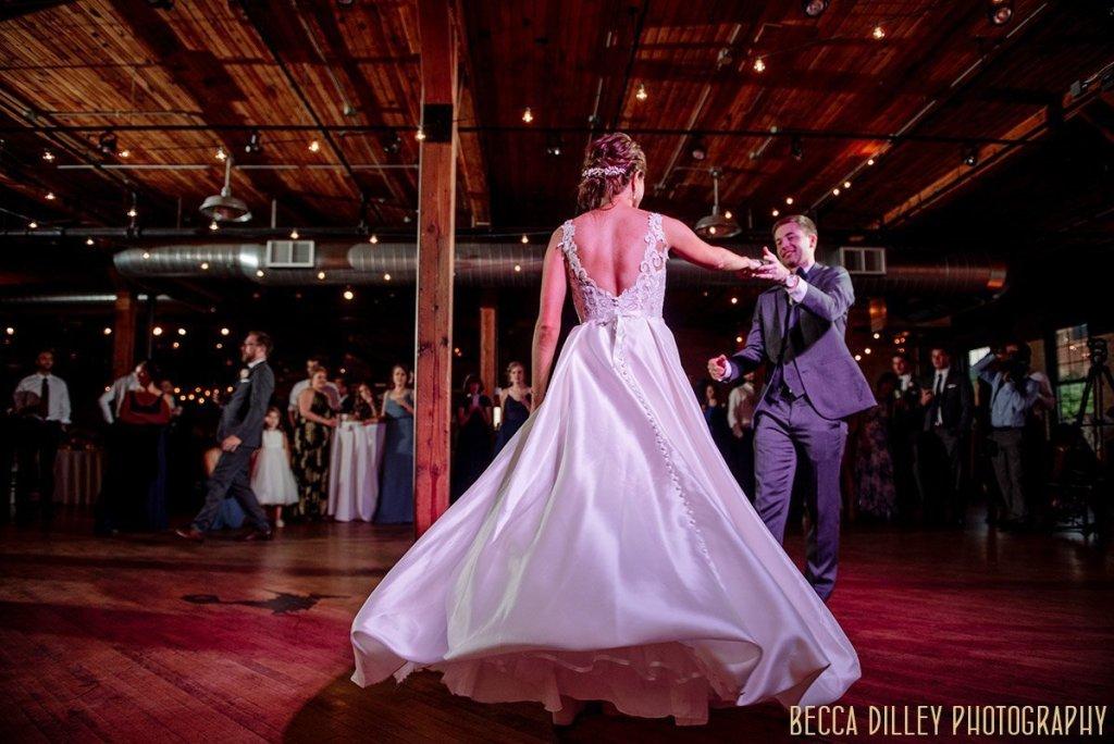 first dance at solar arts wedding reception