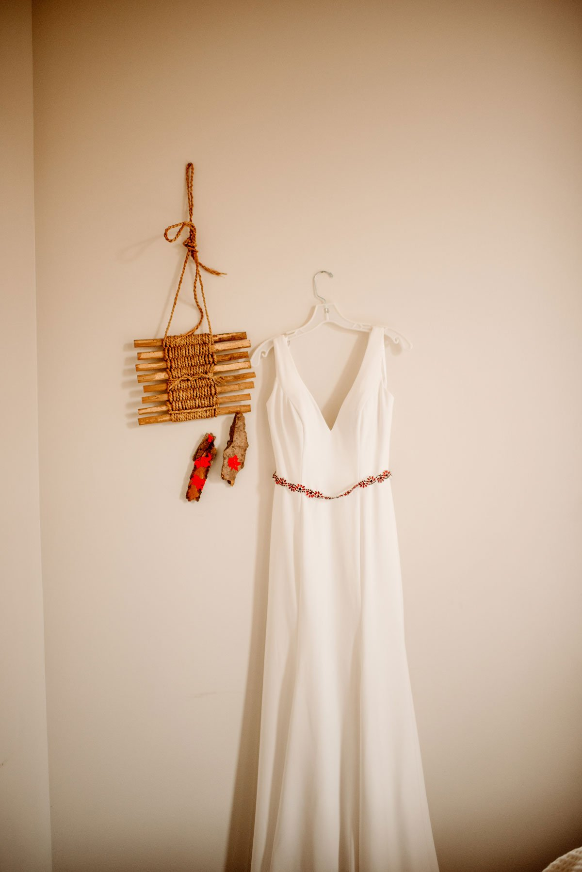 dress hangs at hotel alma