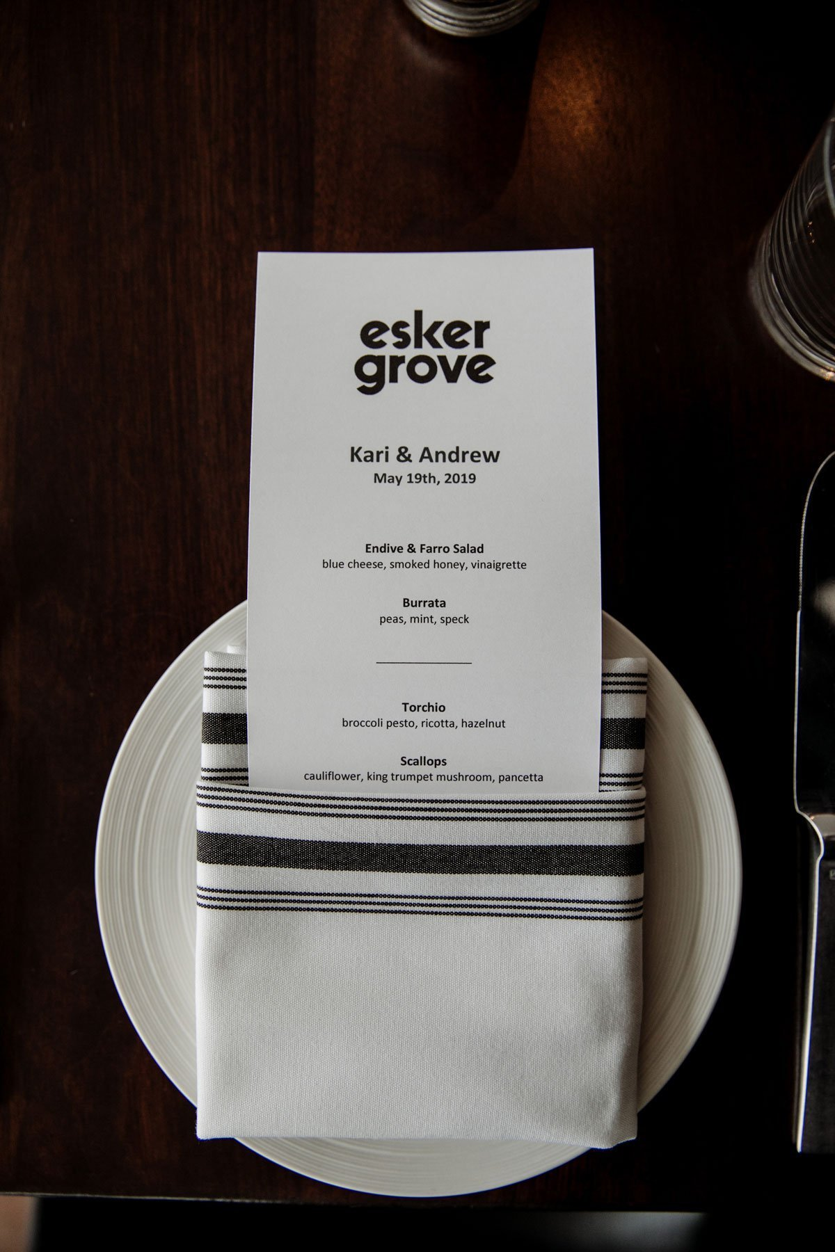 menu esker grove wedding at the walker art center minneapolis