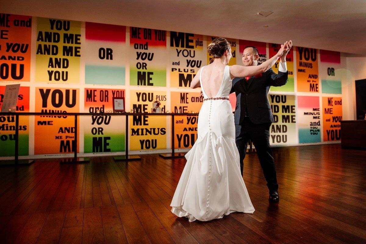 first dance esker grove wedding at the walker art center minneapolis