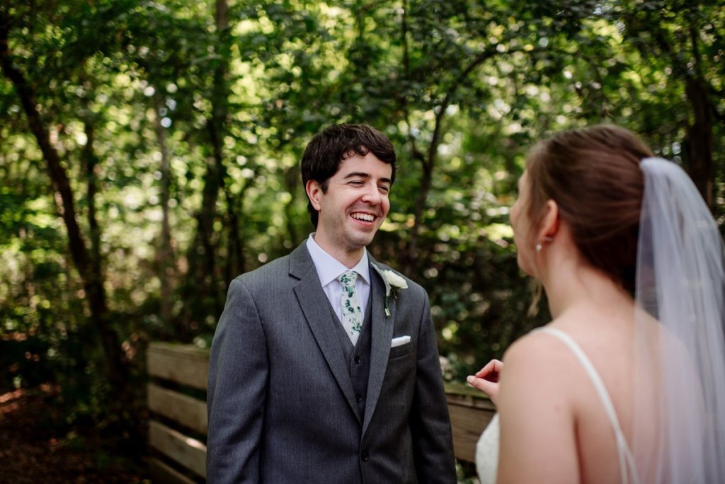 first look voyageur wedding environmental center mn