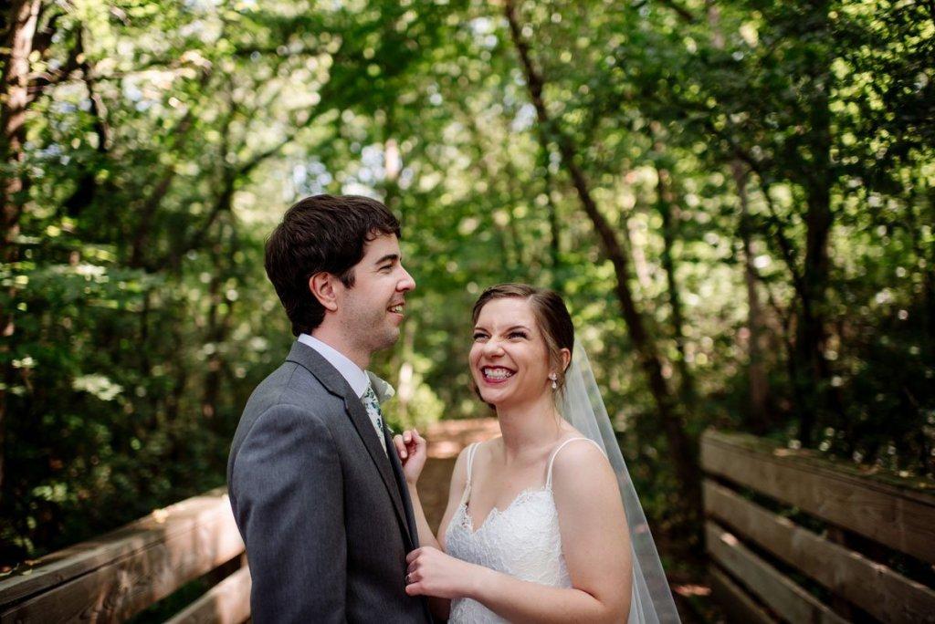 bride laughs voyageur wedding environmental center mn