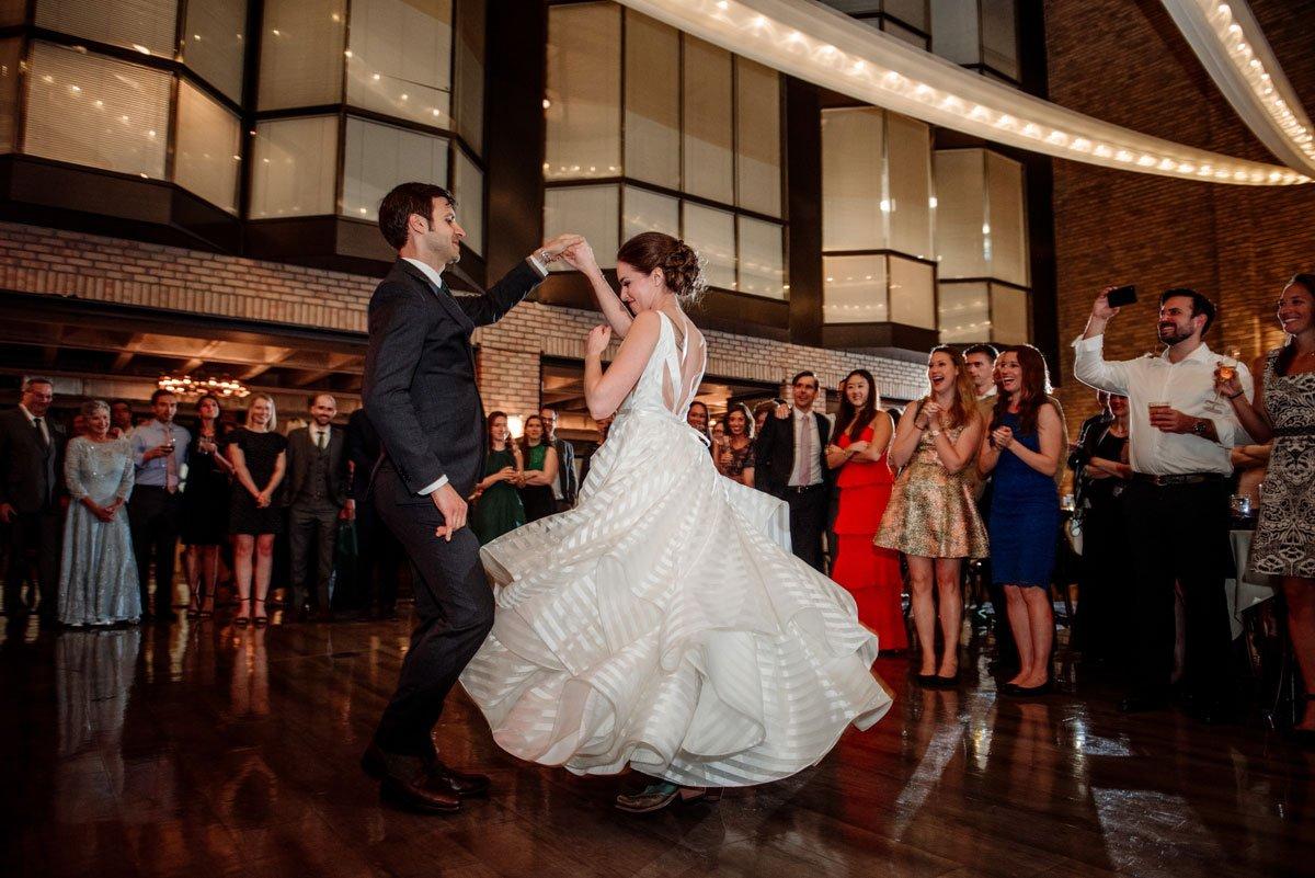 first dance at lumber exchange wedding minneapoils