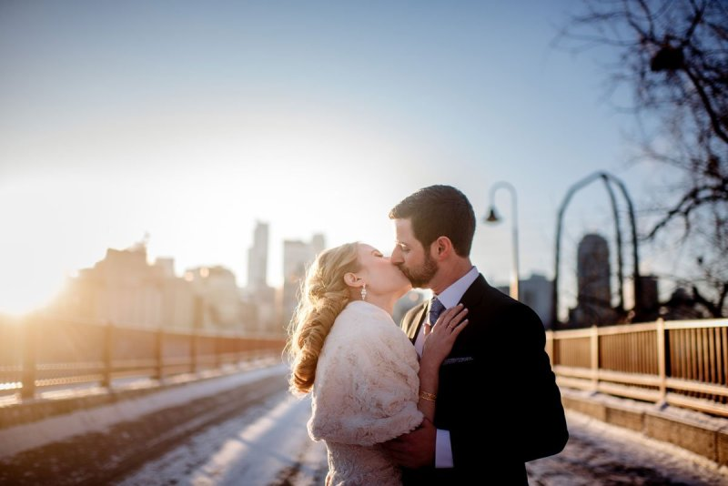 Kissing in the new year in minneapolis