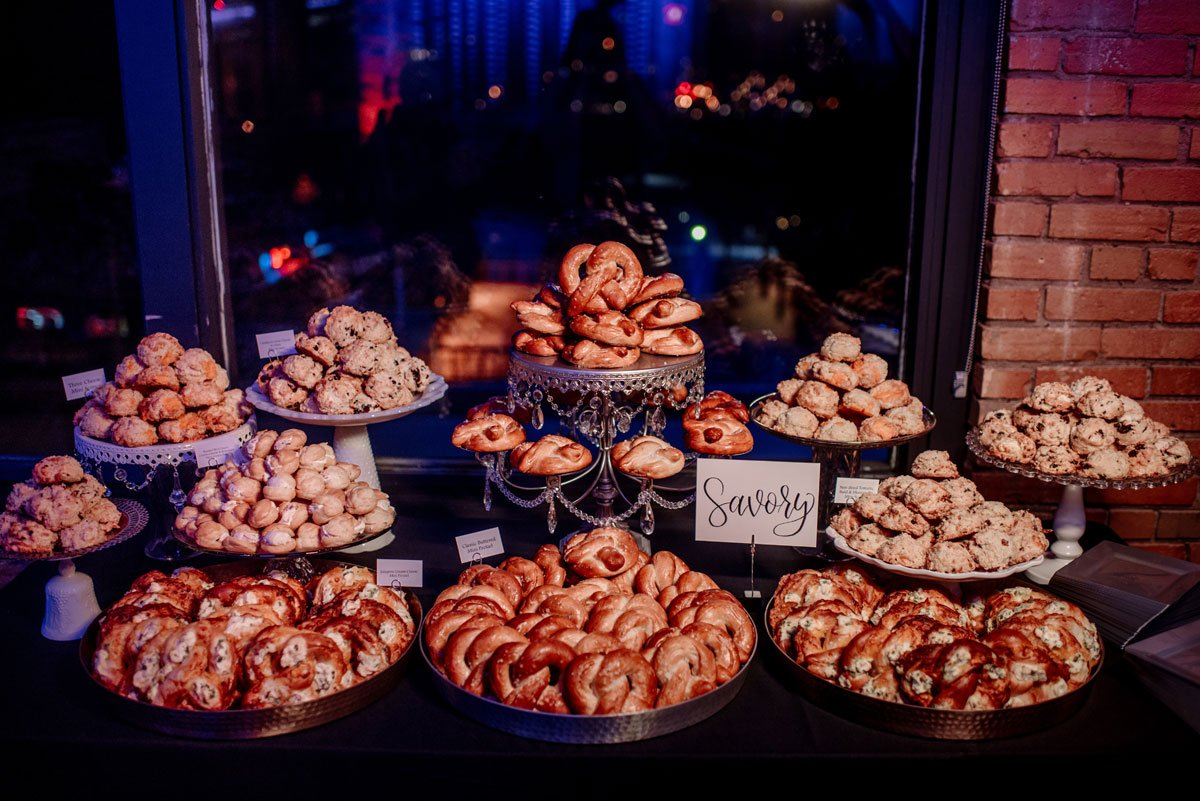 savory snacks new years eve wedding Minneapolis event center