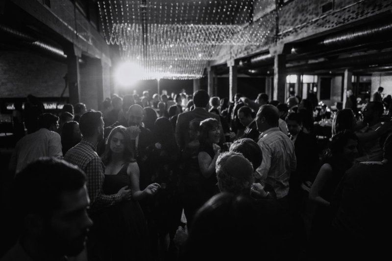 end of the night at new years eve wedding Minneapolis event center