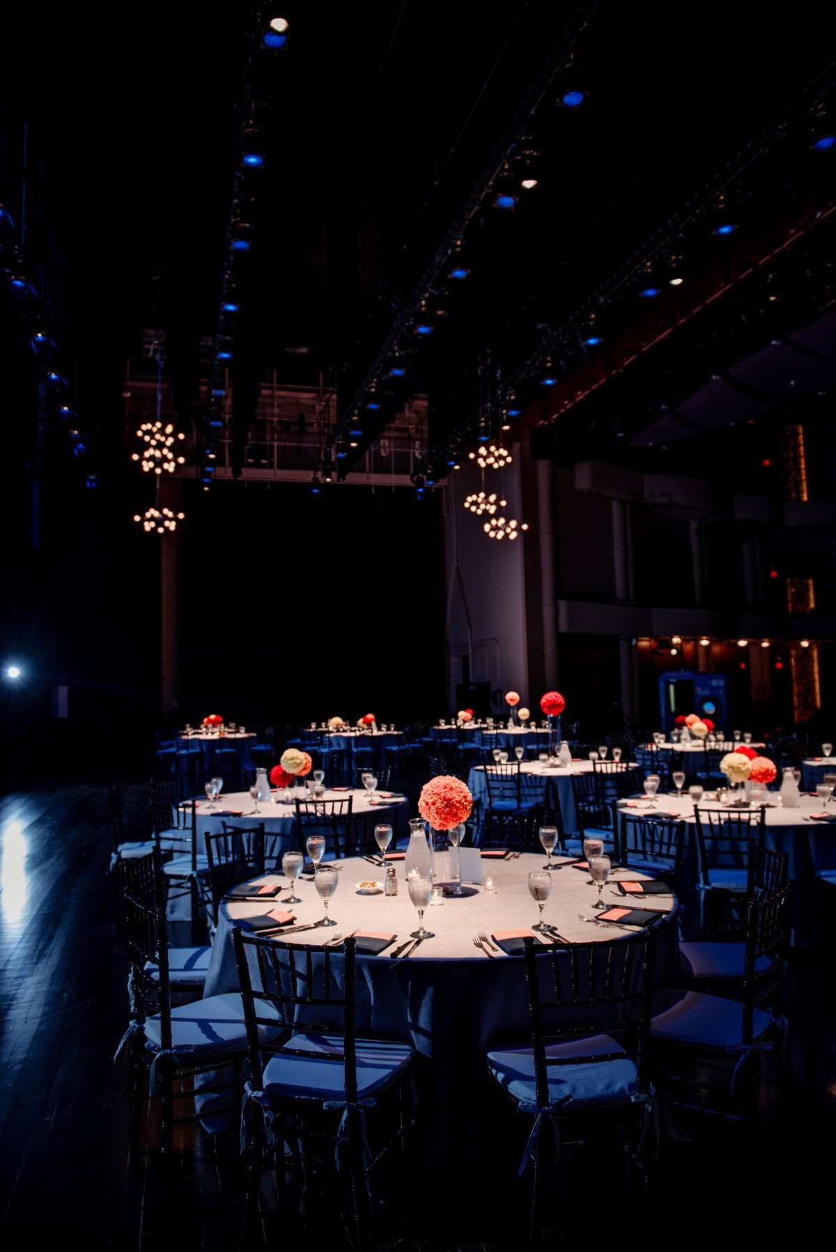 bold colors and dramatic lighting for reception washington pavilion wedding sioux falls