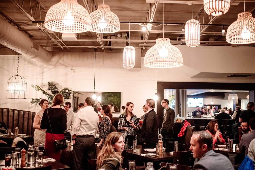 small wedding reception at fitz restaurant st paul