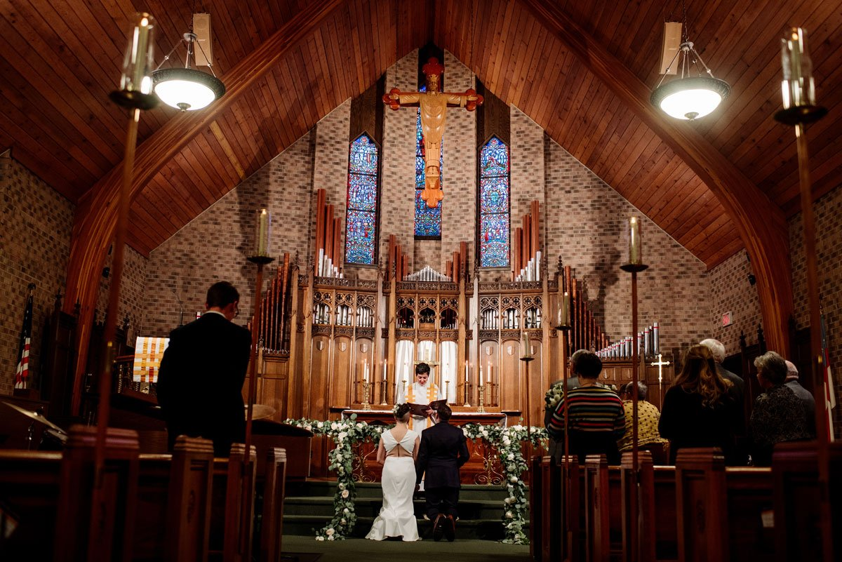 intimate church ceremony small wedding with restaurant st paul mn