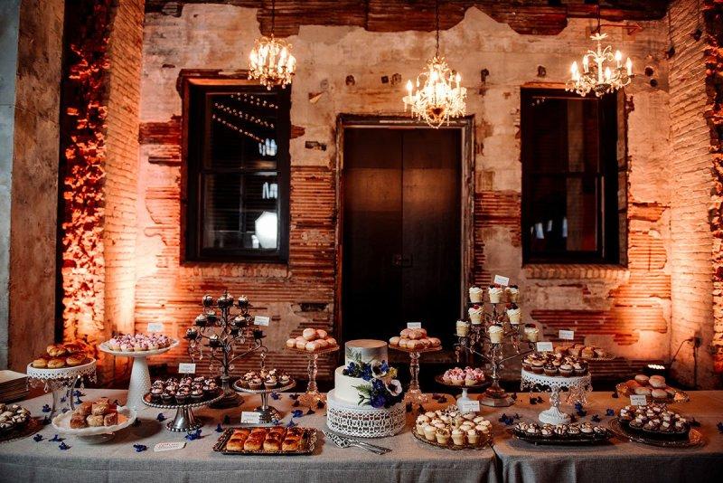 dessert bar by angel food reception for aria wedding minneapolis