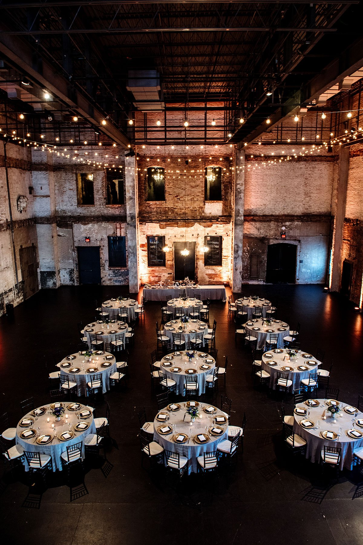 tables set up for reception for aria wedding minneapolis
