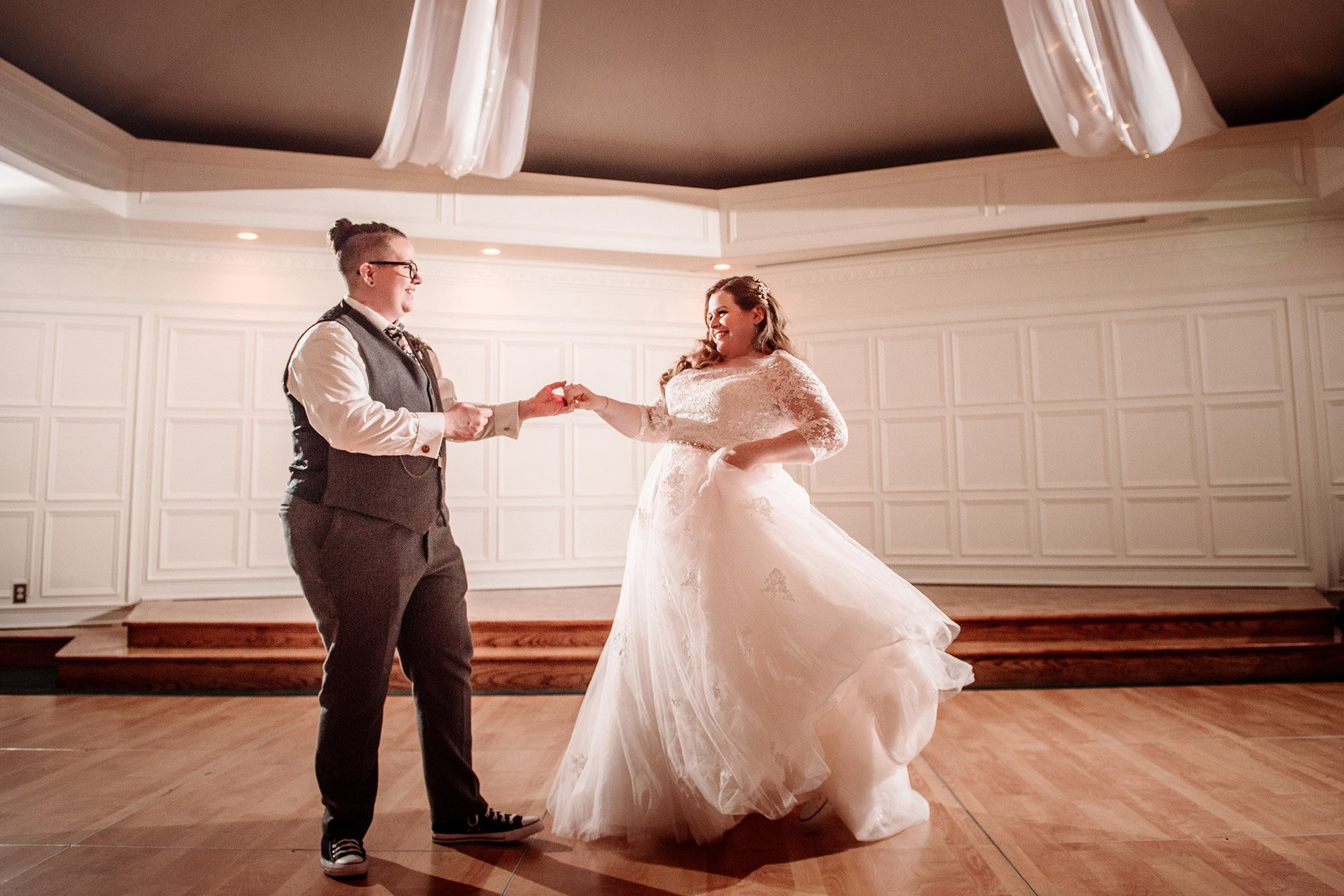 first dance two brides st paul college club wedding mn