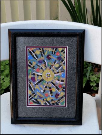 Watercolor with metallic tones