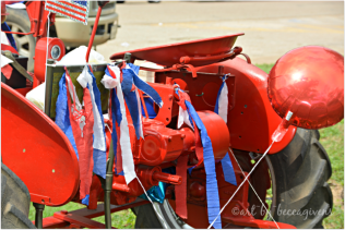 Decorated tractor
