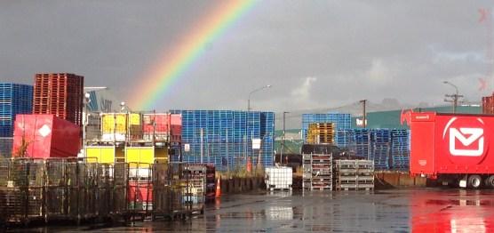 Rainbow, taken with iPhone 5.