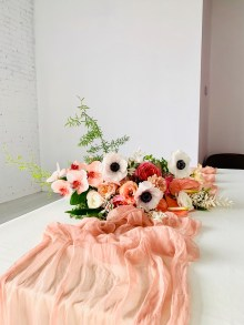 OBJC Plant-dyed Table Runner in Living Coral