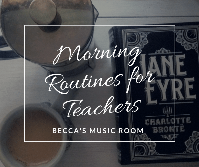 Morning Routines for Teachers plus some of my favorite beauty products! Tips for preparing yourself for those kids! Becca's Music Room.