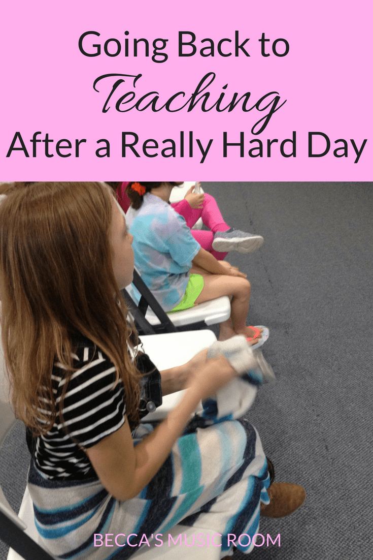 Going back to Teaching after a Really Rough Day. Some tips for what to do the day after something bad happened, or when you feel defeated. What do you do? Becca's Music Room