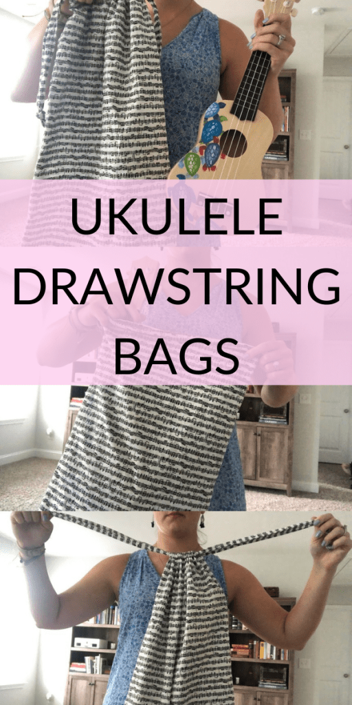 Ukulele bags for elementary music teachers or music students learning to play ukulele from Becca's Music Room on Etsy. Perfect gift for a music lover!