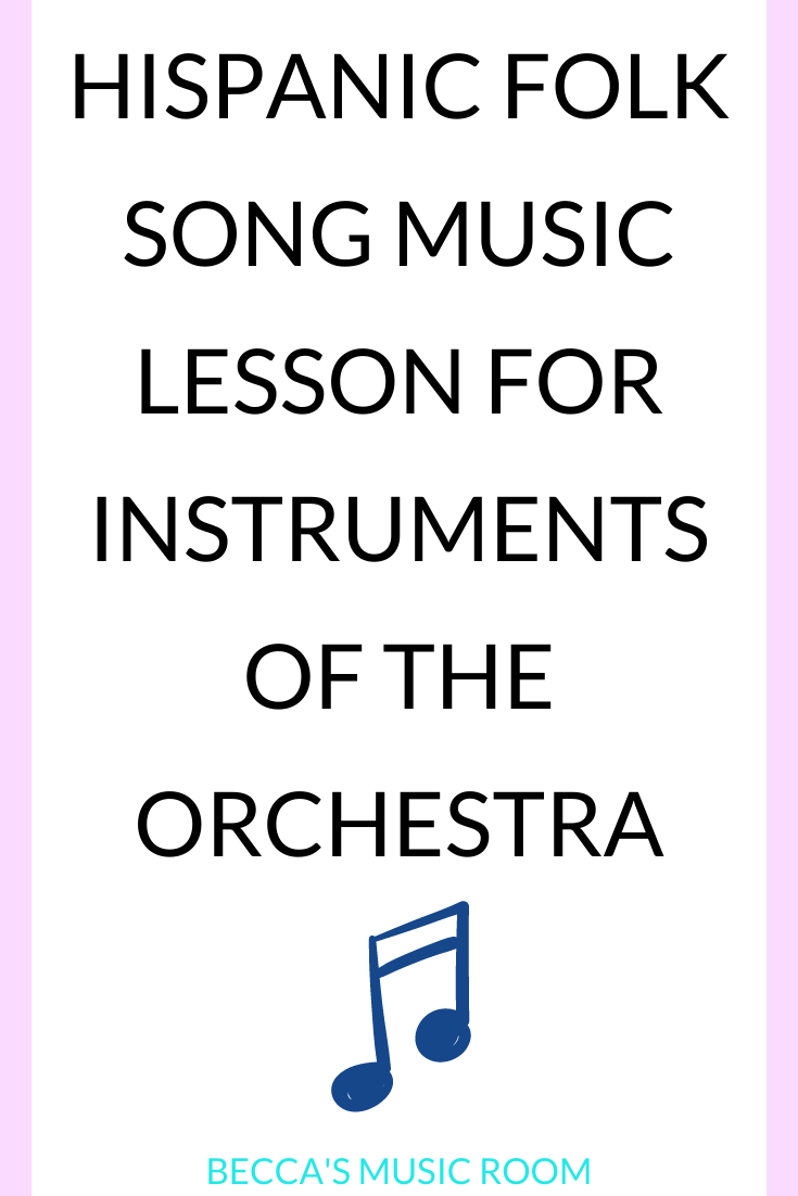 En La Pulga de San Jose Easy and fun hispanic folk song for third grade. This song teaches about different instruments, so I like to use it with instruments of the orchestra. Perfect for Cinco de Mayo, Hispanic Heritage Month music lessons, or any time of year. Becca's Music Room