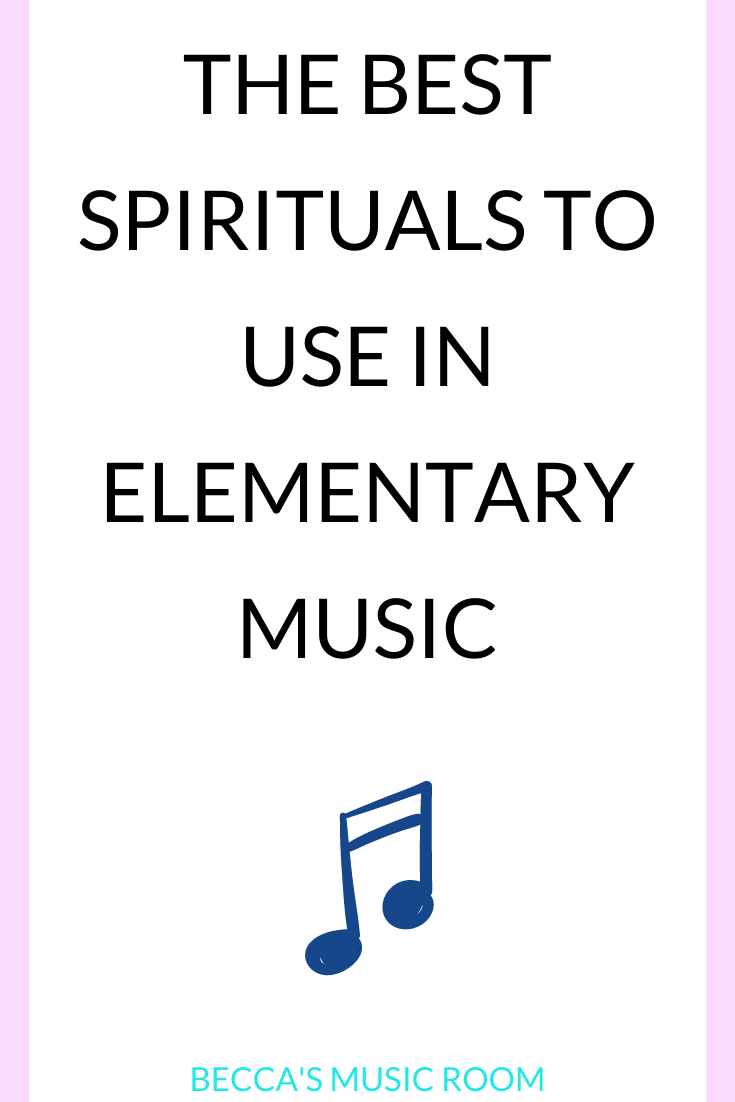 Spirituals for elementary music lessons. These spritituals are person for teaching general music lessons including rhythm, melody, tempo, and more! Perfect for Black History Month Music lessons. Becca's Music Room