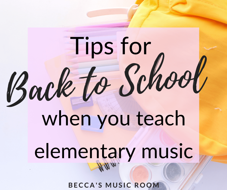 The beginning of the school year sets the tone for the rest... so how do you make sure you get off on the right foot with your elementary music students? These tips will help new and first year general music teachers have a successful start to the year. Becca's Music Room