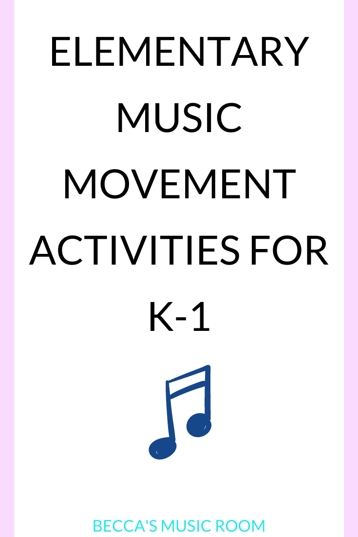 Kids need to move-- so here are 10 of my favorite music lessons that involve movement for k-1. Movement lessons include activities and folk songs. Becca's Music Room