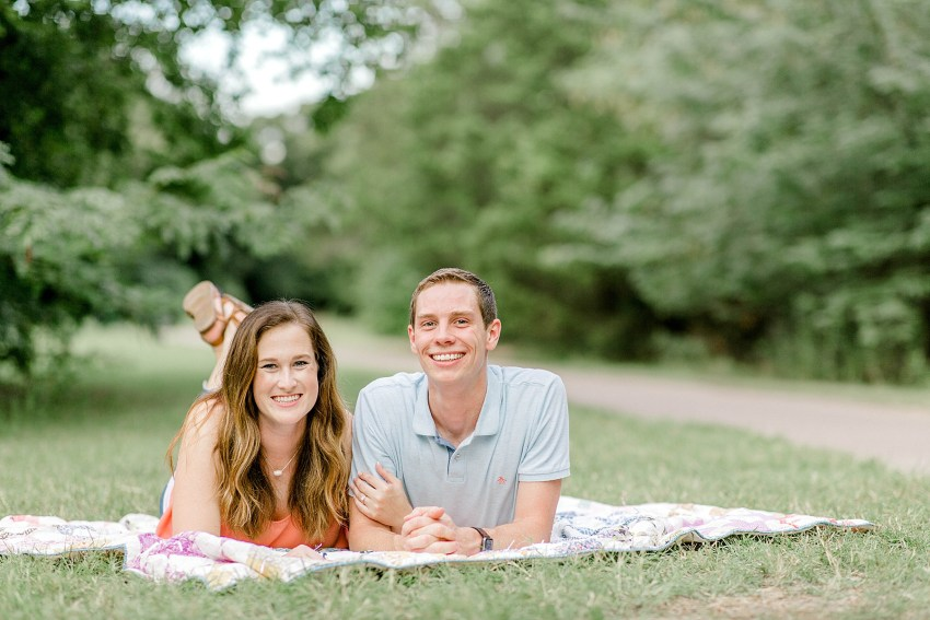 Romantic Creek Engagement Session (Flower Mound, Texas) | Becca Sue Photography - www.beccasuephotography.com