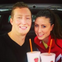 """We spent a lot of time at the gym this weekend...and had """"recovery"""" drinks at Jamba"""