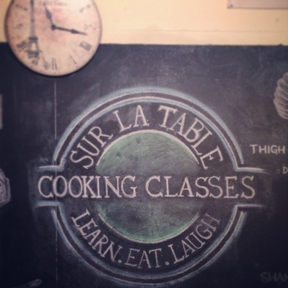 Our Valentine date: a Sur La Table cooking class. So much fun!