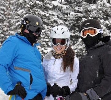 Skiing with my favorite guys.