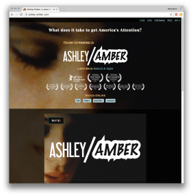 screenshot of ashley-amber.com