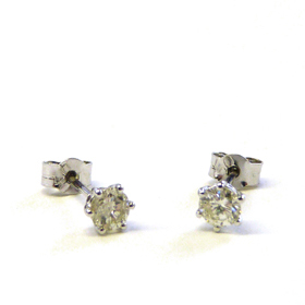 Recycled Diamond Earrings