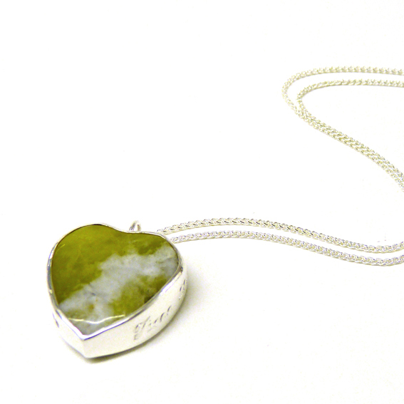Iona Marble and Silver Pendant
