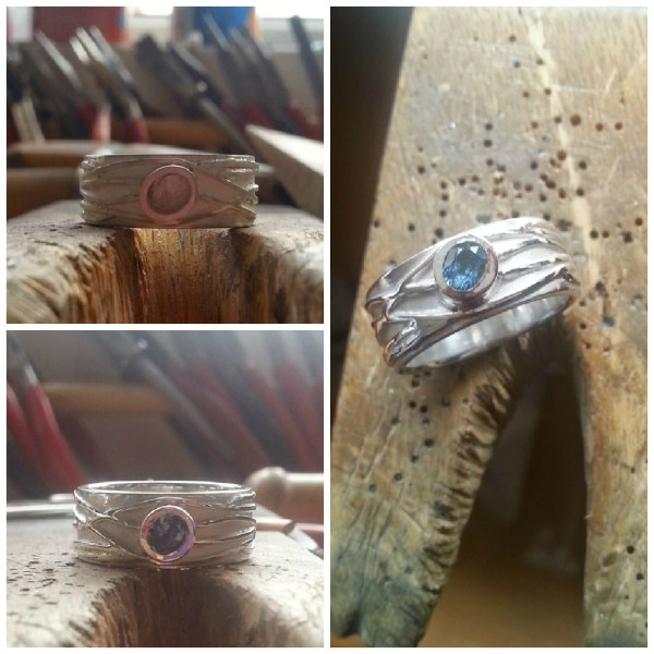 Making Silver and Topaz Braided River Ring Collage 2sm Becca Williams Jewellery