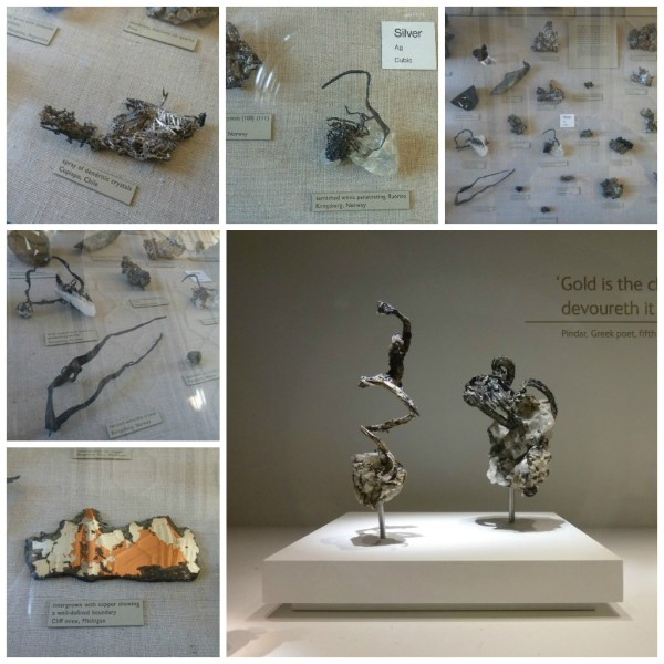 Silver Mineral Samples, Natural History Museum, London 2015