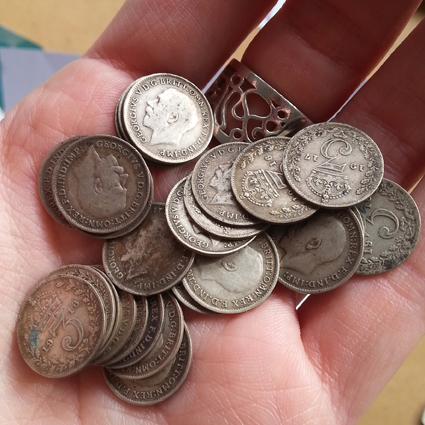 A selection of antique silver coins