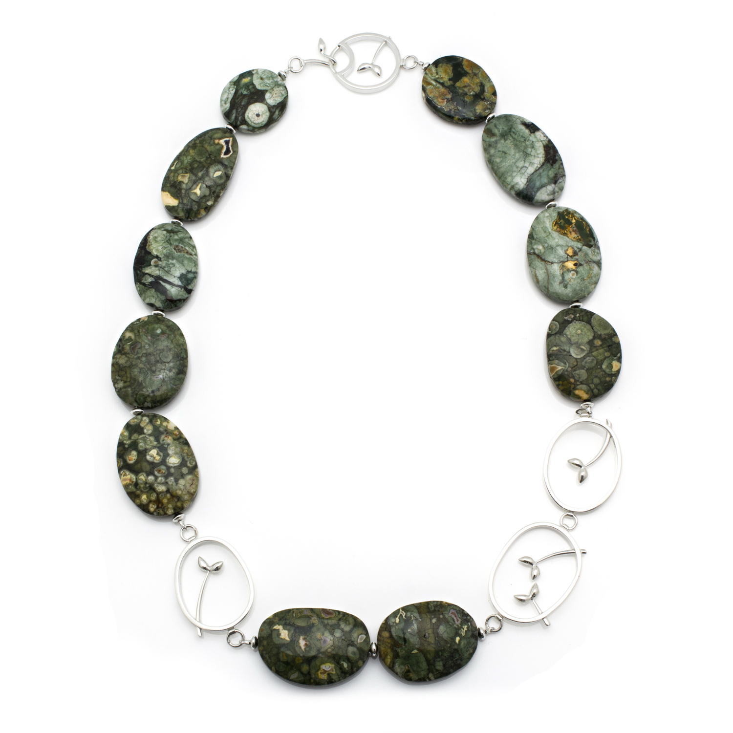 Silver and Ryolite Necklace