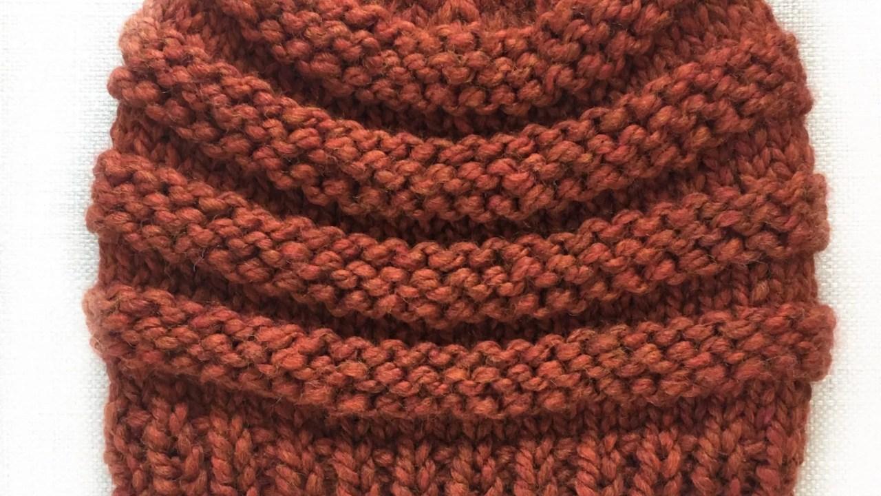 "Free Knitting Pattern:  Copy Cat ""CC"" Chunky Beanie"
