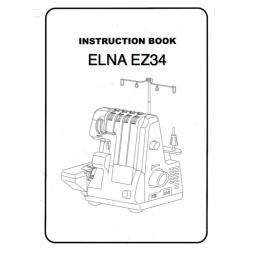 ELNA EZ34 Overlocker Instruction Manual (Download)