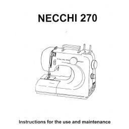 NECCHI Sylvia 270 Instruction Manual (Printed)