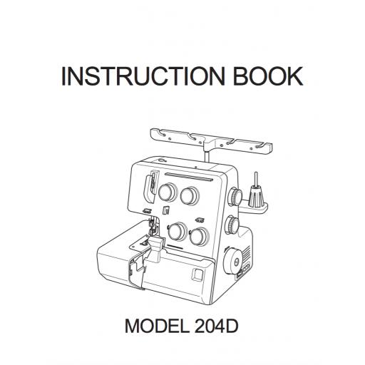 MY LOCK 204D Overlocker Instruction Manual (Download)