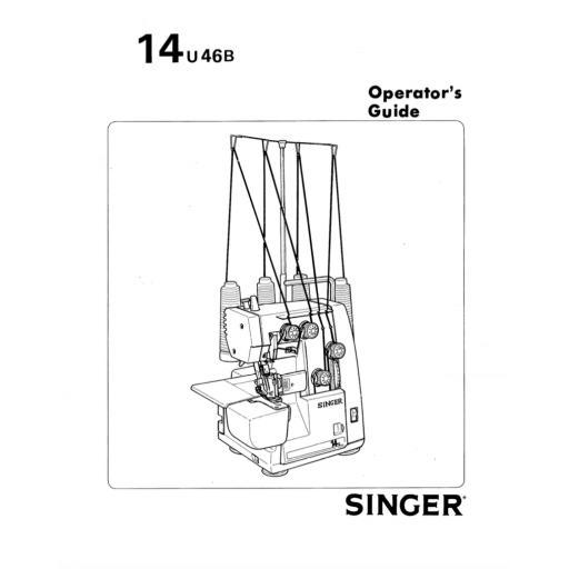 SINGER 14U46B Overlocker Instruction Manual (Download)