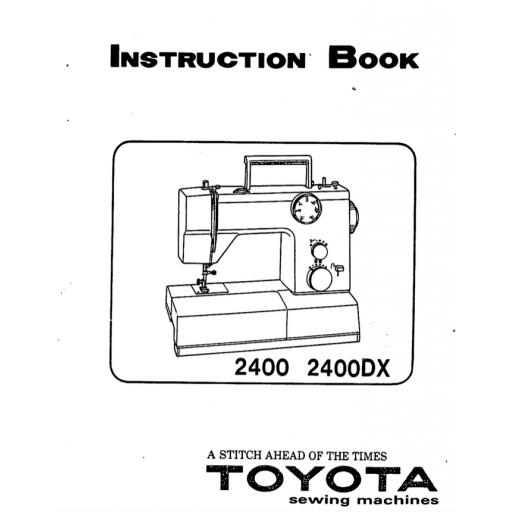 TOYOTA 2400 (2400DX) Instruction Manual (Download)